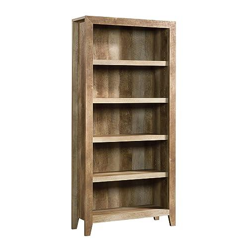 Sauder 418546 Dakota Pass 5 Shelf Bookcase Craftsman Oak Finish