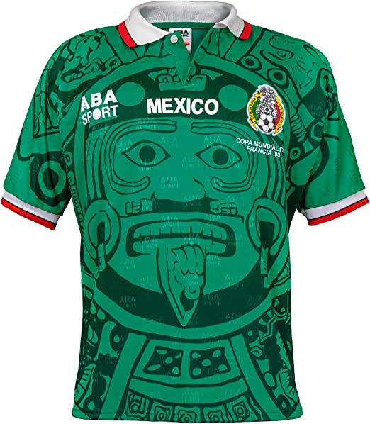 ABA Sport Mexico Red Authentic Special Edition 1998 World Cup Soccer Jersey