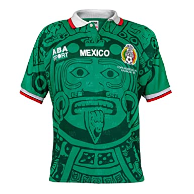 2b999b79e64 Amazon.com: ABA Sport Mexico Authentic 1998 World Cup Soccer Jersey ...