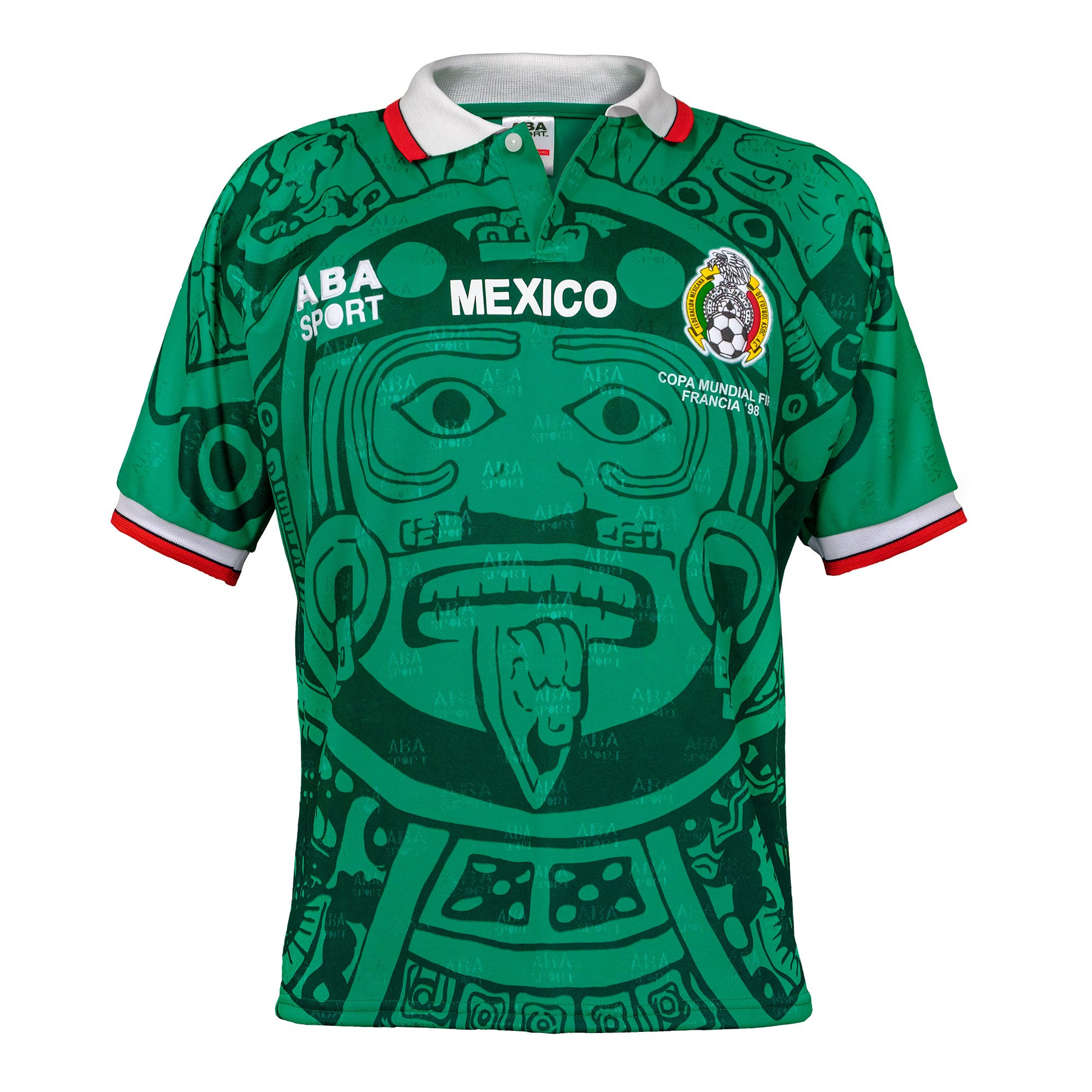 Amazon.com  ABA Sport Mexico Authentic 1998 World Cup Soccer Jersey   Clothing d614a9ebdf3ce