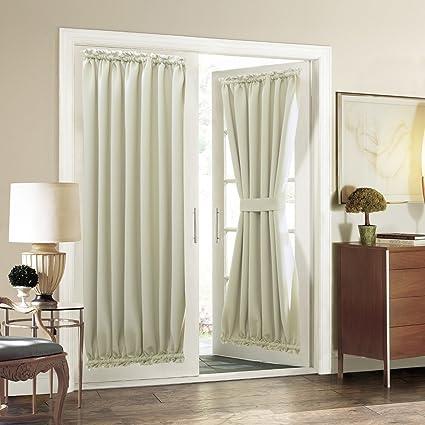 Charmant Aquazolax Plain Blackout Curtains French Door Panels Premium   1 Piece,  54u0026quot; X 72u0026quot