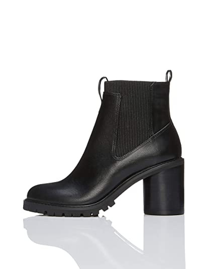 34561359b34f FIND Women s Chunky Chunky Sole Chelsea Boots  Amazon.co.uk  Shoes ...