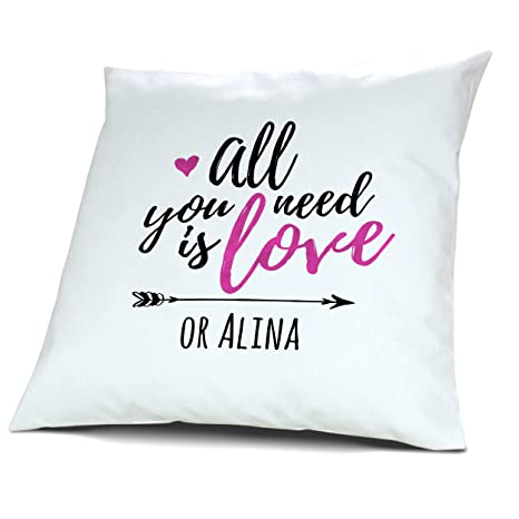 printplanet Almohada con Nombre Alina - Diseño All You Need ...
