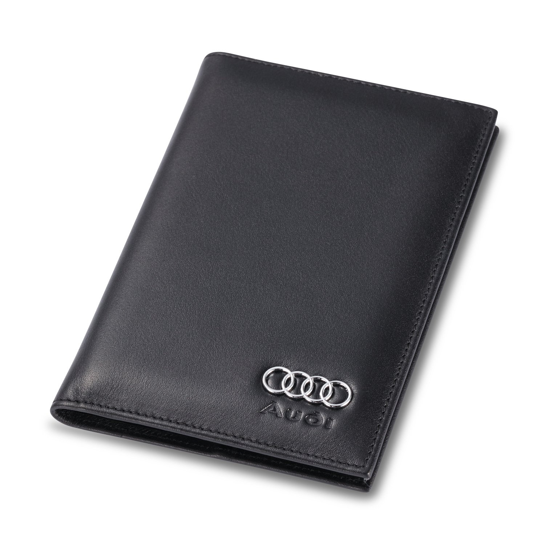 Audi Bifold Standard Passport Cover - Genuine Leather