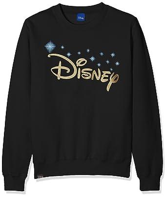 Disney Logo, Sudadera para Niñas, Negro (Black BLK) 7-8 Años