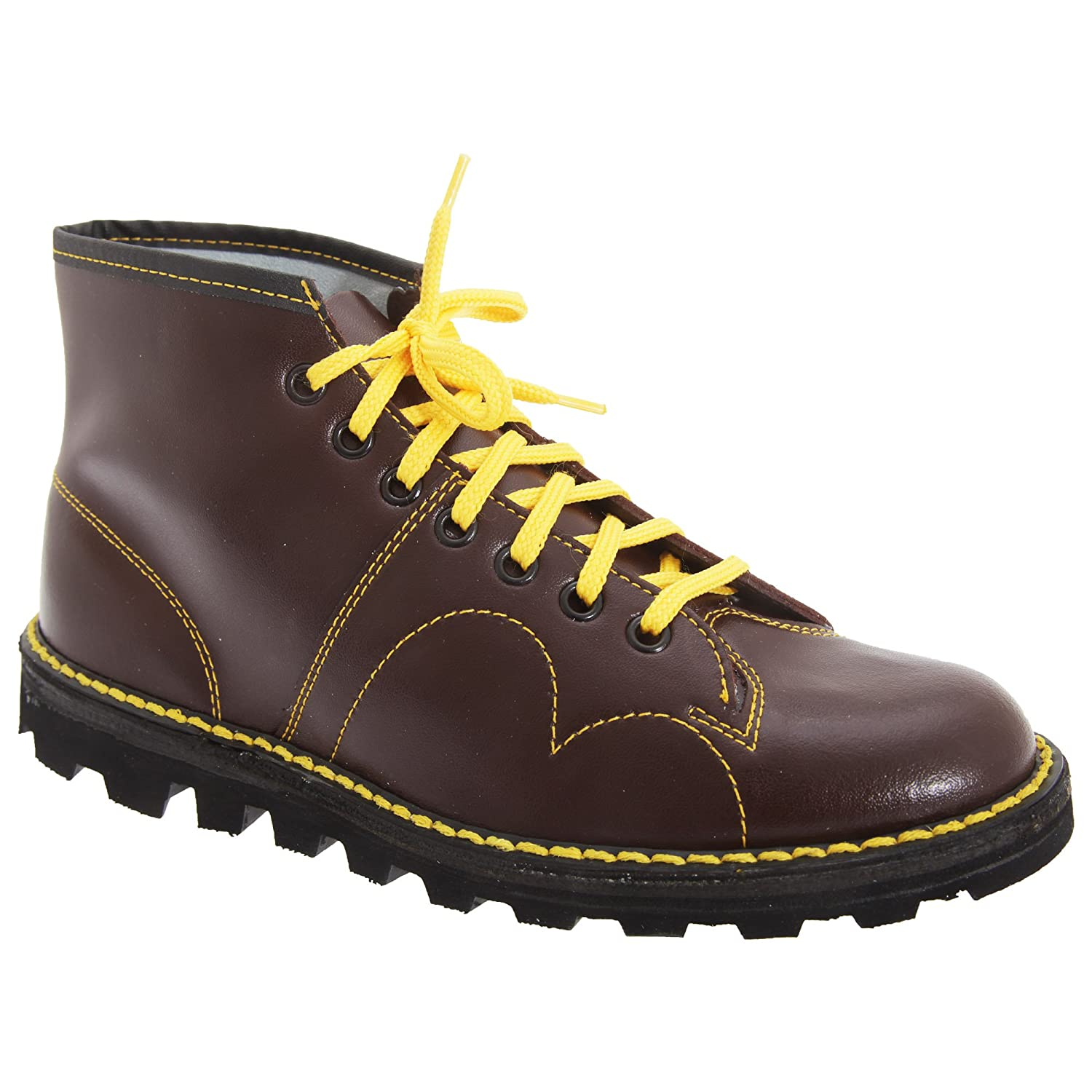 8b507b28d005e Amazon.com | Grafters Mens Original Coated Leather Retro Monkey Boots |  Boots