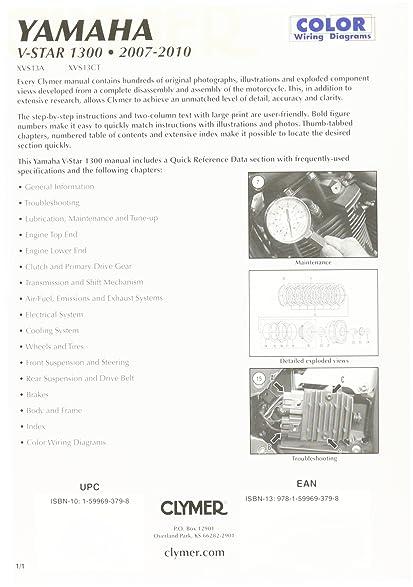 amazon com clymer repair manual m283 automotive Western Star Fuse Diagram 2004 yamaha v star 1300 wiring diagram