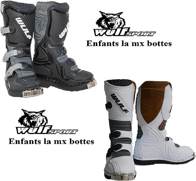 Bottes Moto Enfants Wulf LA Junior MX Quad Sport Bottes pitbike de Course