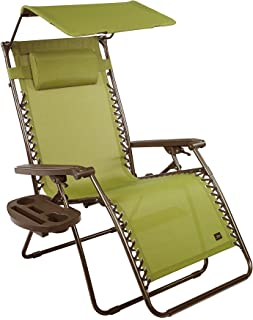 Medium image of bliss hammocks gravity free x wide recliner with canopy shade and cup tray