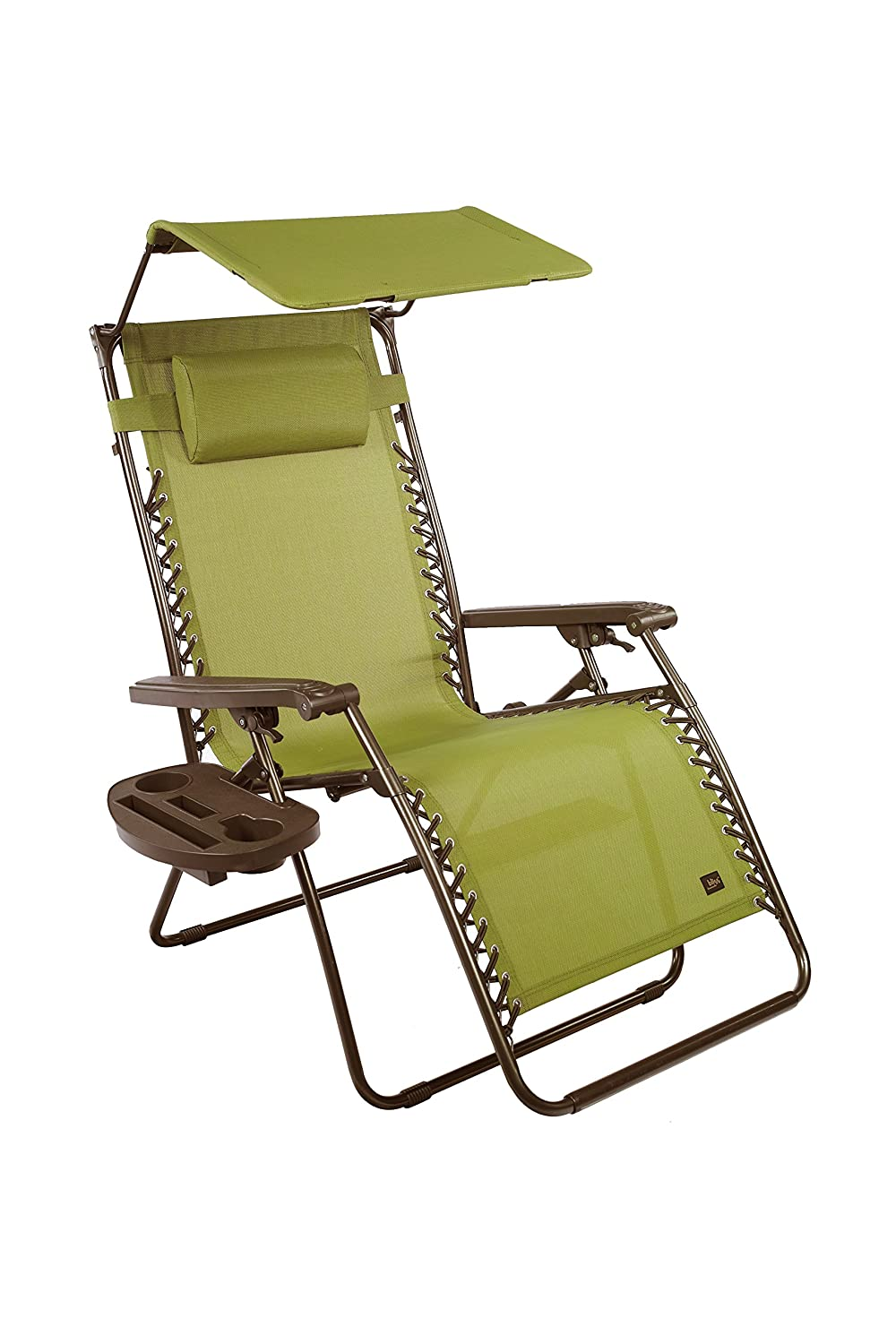 Amazon.com : Bliss Hammocks Wide Gravity Free Lounger With  Pillow/Canopy/Side Tray : Reclining Chari : Garden U0026 Outdoor