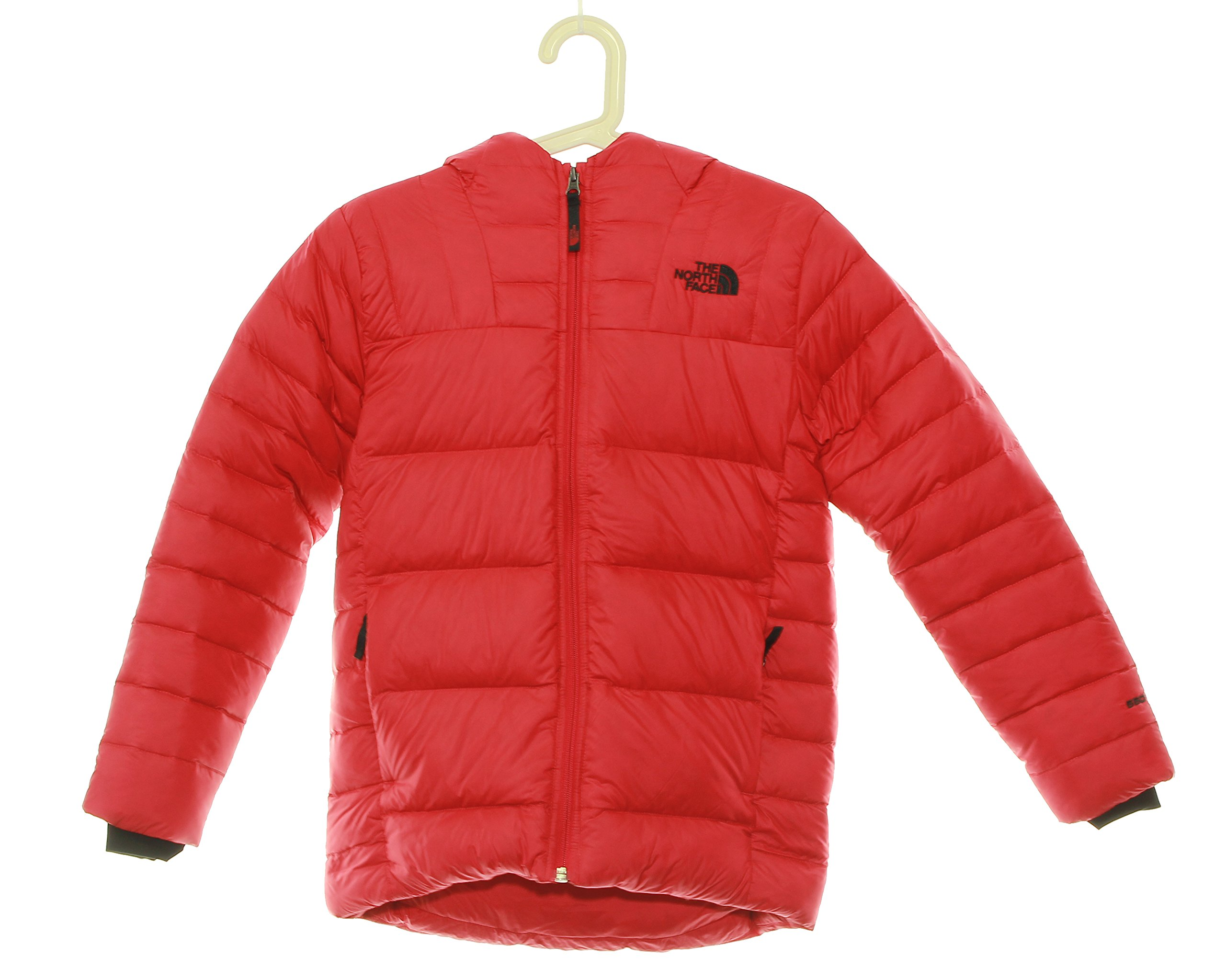 Boy's The North Face Double Down Hoodie Jacket 10/12 Medium Red by No Warranty The North Face
