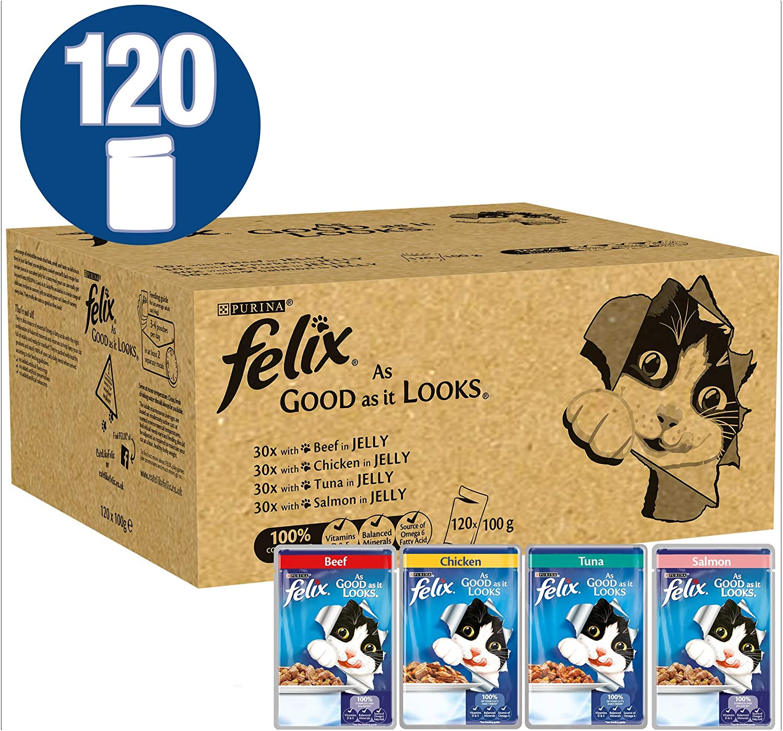 Felix As Good As It Looks - Comida para Gatos variada (100 g, 120 Unidades)