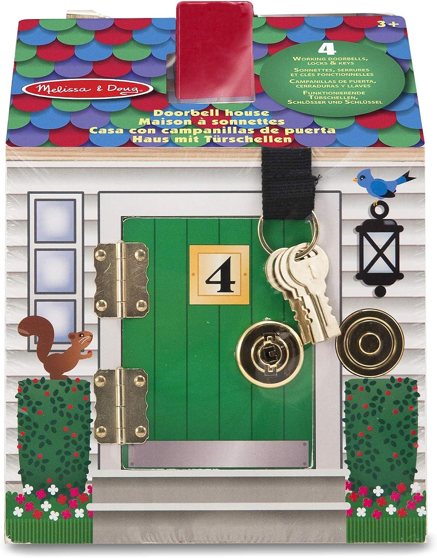 12505 Melissa /& Doug Maison En Bois /À Sonnettes avec piles Basics