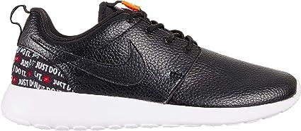 new arrival 1f6d9 b1d6b Nike Women s Roshe One Premium Just Do It Shoes (Black Orange White,