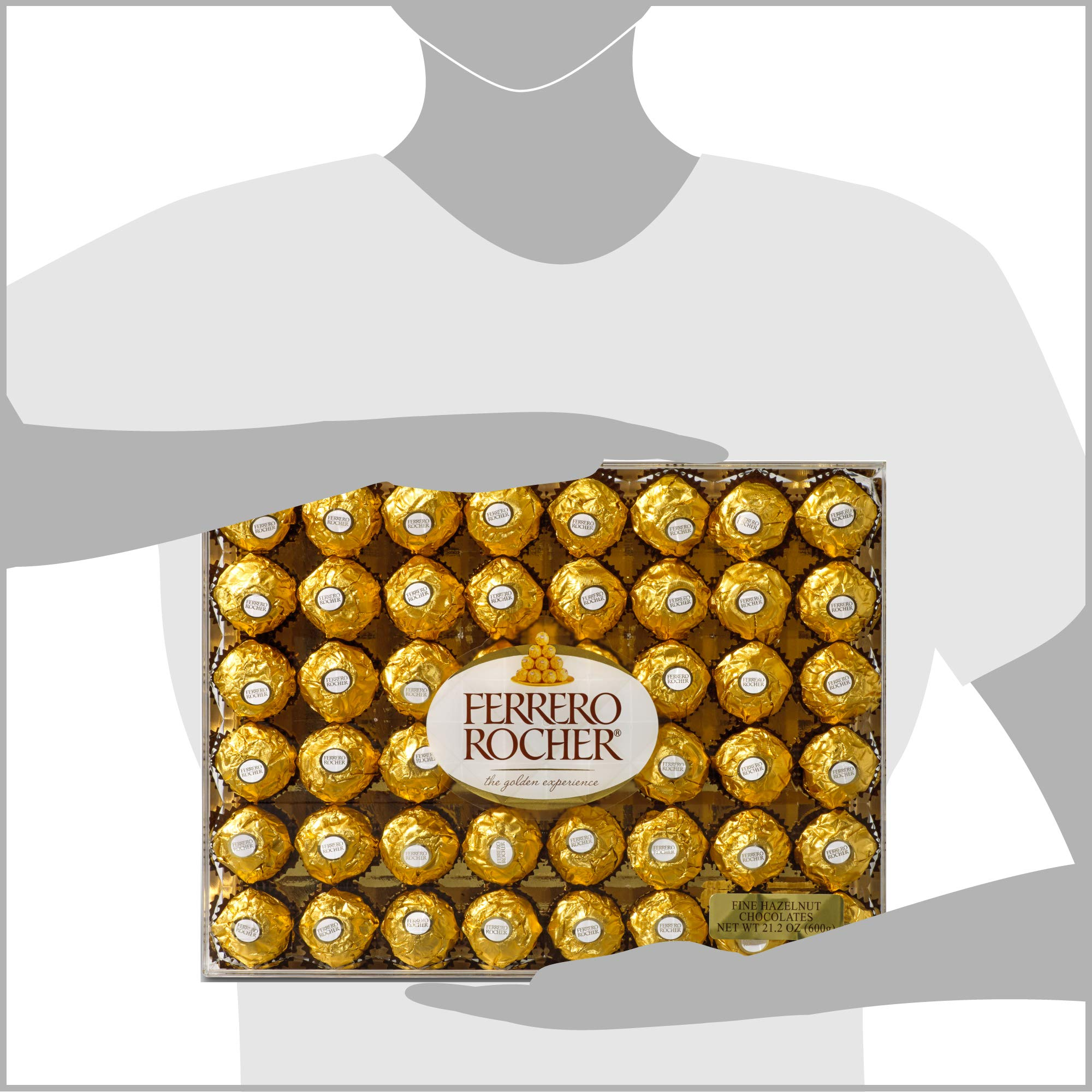 Ferrero Rocher Fine Hazelnut Chocolates, 21.1 Oz, 48 Count by Ferrero Rocher (Image #7)