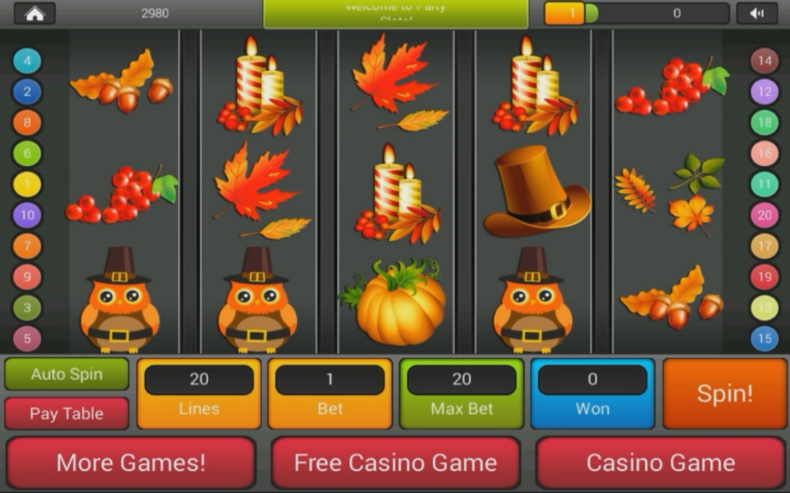 Thanksgiving Slots | Play FREE Thanksgiving-themed Slot Machine Games