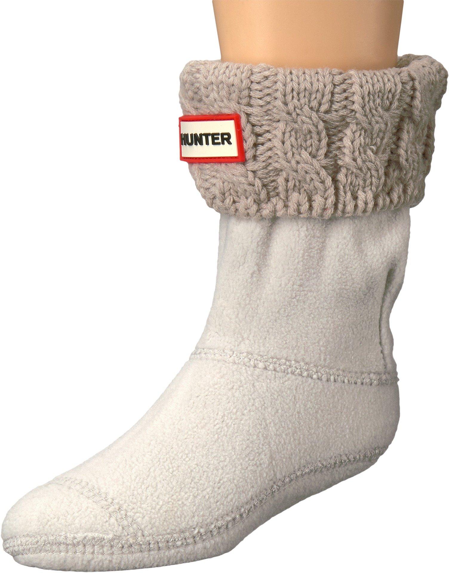 Hunter Girls' Kids 6stitch Cable Sock, Greige, 5 Infant
