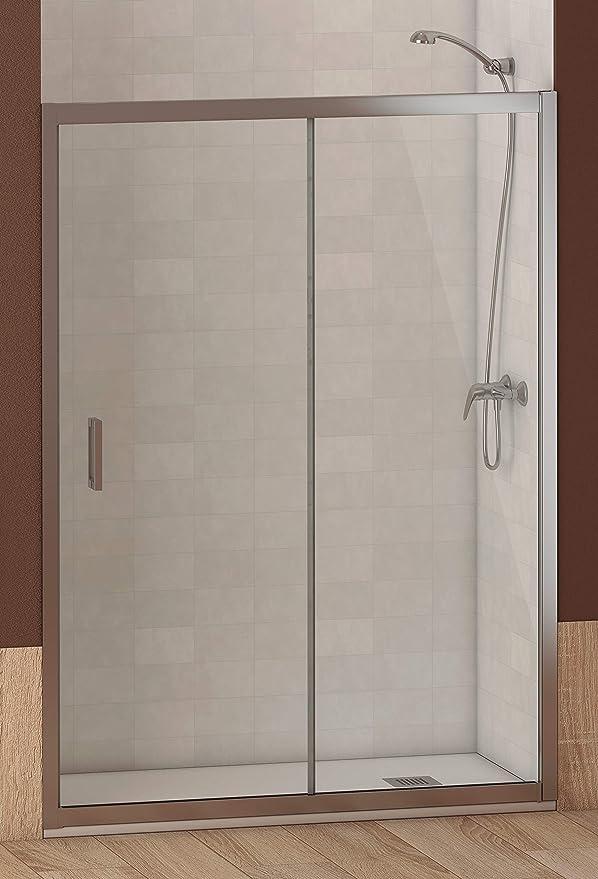 ALABAMA Mampara Frontal de ducha, Easy Clean, Medidas 150 x 195 cm, Cristal 6 mm grosor, Cromo-Transparente, Mampara Ducha, Hoja Fija Corredera Modular Rectangular Perfil Aluminio Cromado: Amazon.es: Bricolaje y herramientas