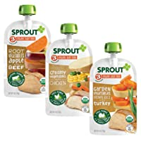 Sprout Organic Stage 3 Baby Food Pouches, Meat Variety, 4 Ounce (Pack of 18) 6 of...