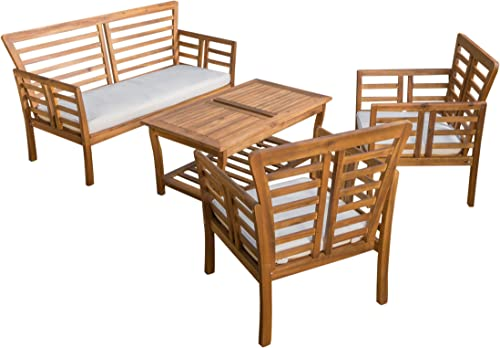 Christopher Knight Home Caydon Outdoor Chat Set