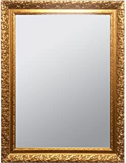 raphael rozen classic vintage hanging framed wall mounted mirror antique gold