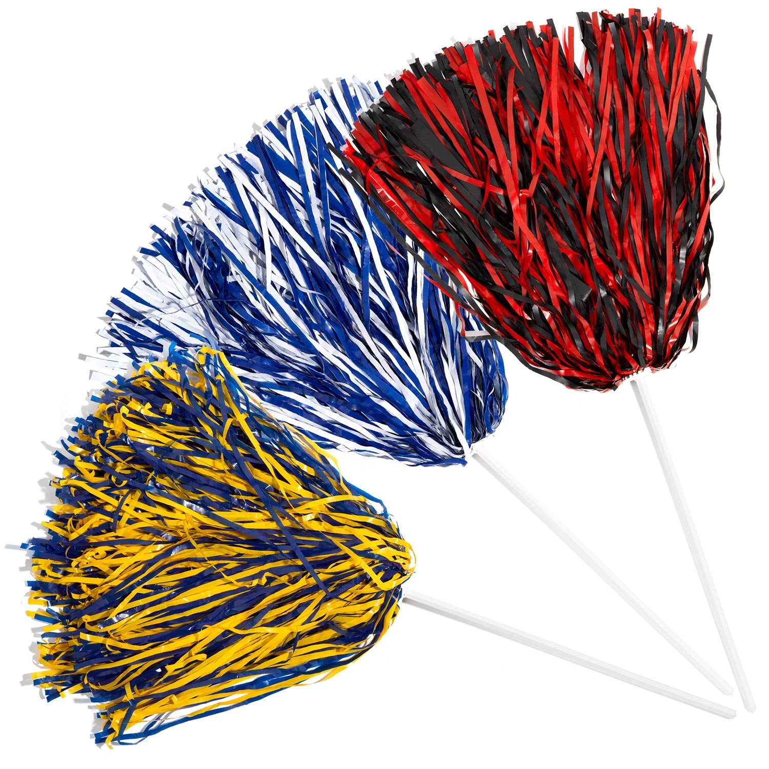2 Pack 2 Color Football Poms TCDesignerProducts Cheerleader Poms