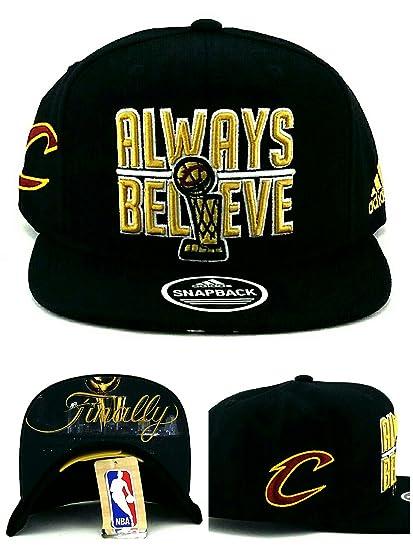 ea91f3e543fd8d Amazon.com : adidas Cleveland Cavaliers New NBA Finals Trophy Always  Believe Finally Black Era Snapback Hat Cap : Clothing