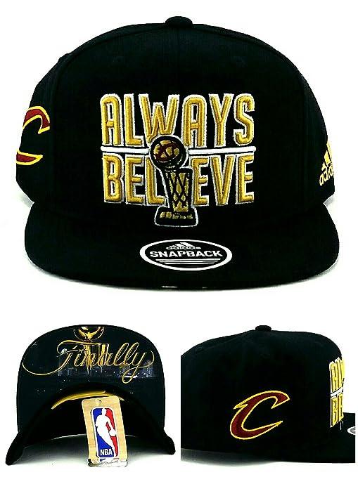 newest 1fc59 3ac99 discount adidas cleveland cavaliers new nba finals trophy always believe  finally black era snapback hat cap