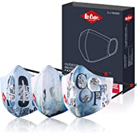 Lee Cooper Lightweight Multi-Layer Printed Design Face Mask with Swiss tech and Multilayer Filtration and Pollution for…