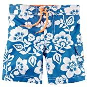 e0ab68c9df2ed Carters Big Boys Tropical Print Swim Trunks 4 Blue
