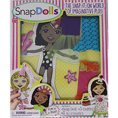 SnapDolls - Cloth Dress Up Paper Dolls for Pretend Play and Hand Eye Coordination (Zoey): Toys & Games