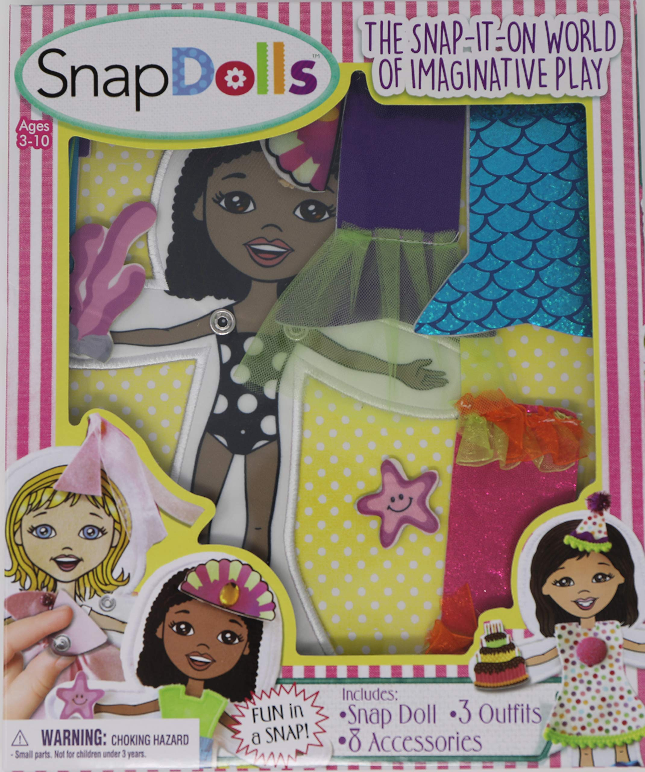 SnapDolls - Cloth Dress Up Paper Dolls for Pretend Play and Hand Eye Coordination (Zoey) by SnapDolls