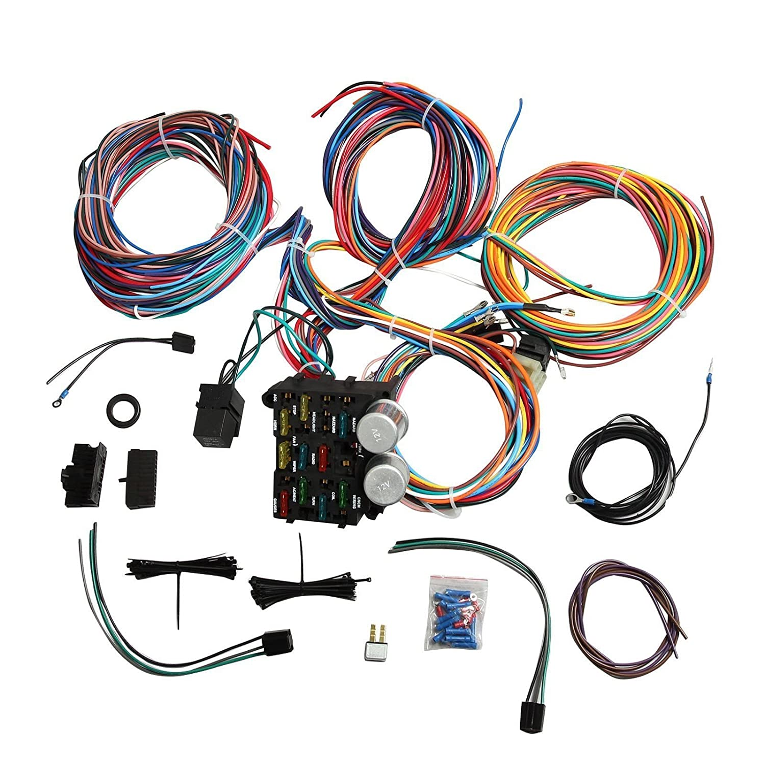 Prime Universal Wiring Harness Kit 12 Circuit Hot Rod Wiring Harness For Wiring Digital Resources Funapmognl