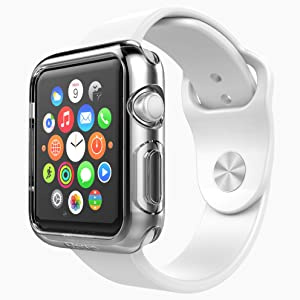 Apple Watch Case - Poetic [Clarity Series] Apple Watch 38mm Case - [Crystal Clear] Premium TPU Case for Apple Watch 38mm (2015) Crystal Clear (3-Year Manufacturer Warranty from Poetic)