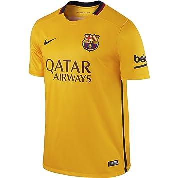 81dbbce5cd Nike FC Barcelona Away Stadium - Camiseta de Mangas Cortas para Hombre   Amazon.es  Deportes y aire libre