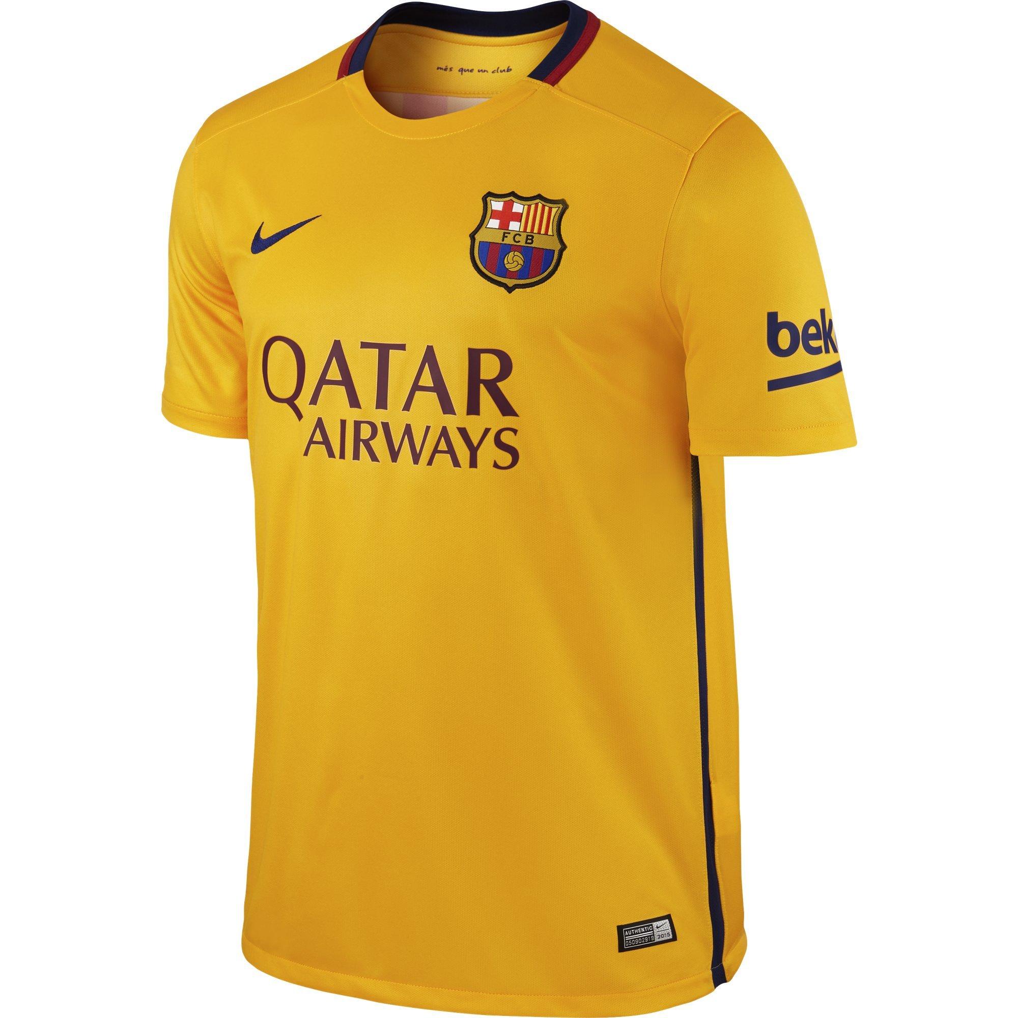 Nike Mens Barcelona Away Stadium Jersey [University Gold]