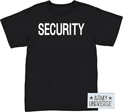 Amazon.com  Army Universe Black Security Double Sided Official ... 9bb0dd99c93