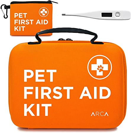 ARCA PET Cat & Dog First Aid Travel Kit - Best For Safety Standards