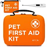 ARCA PET Cat & Dog First Aid Kit Home Office Travel Car Emergency Kit Pet Travel Kit – 100 Pieces with Emergency Collar and P