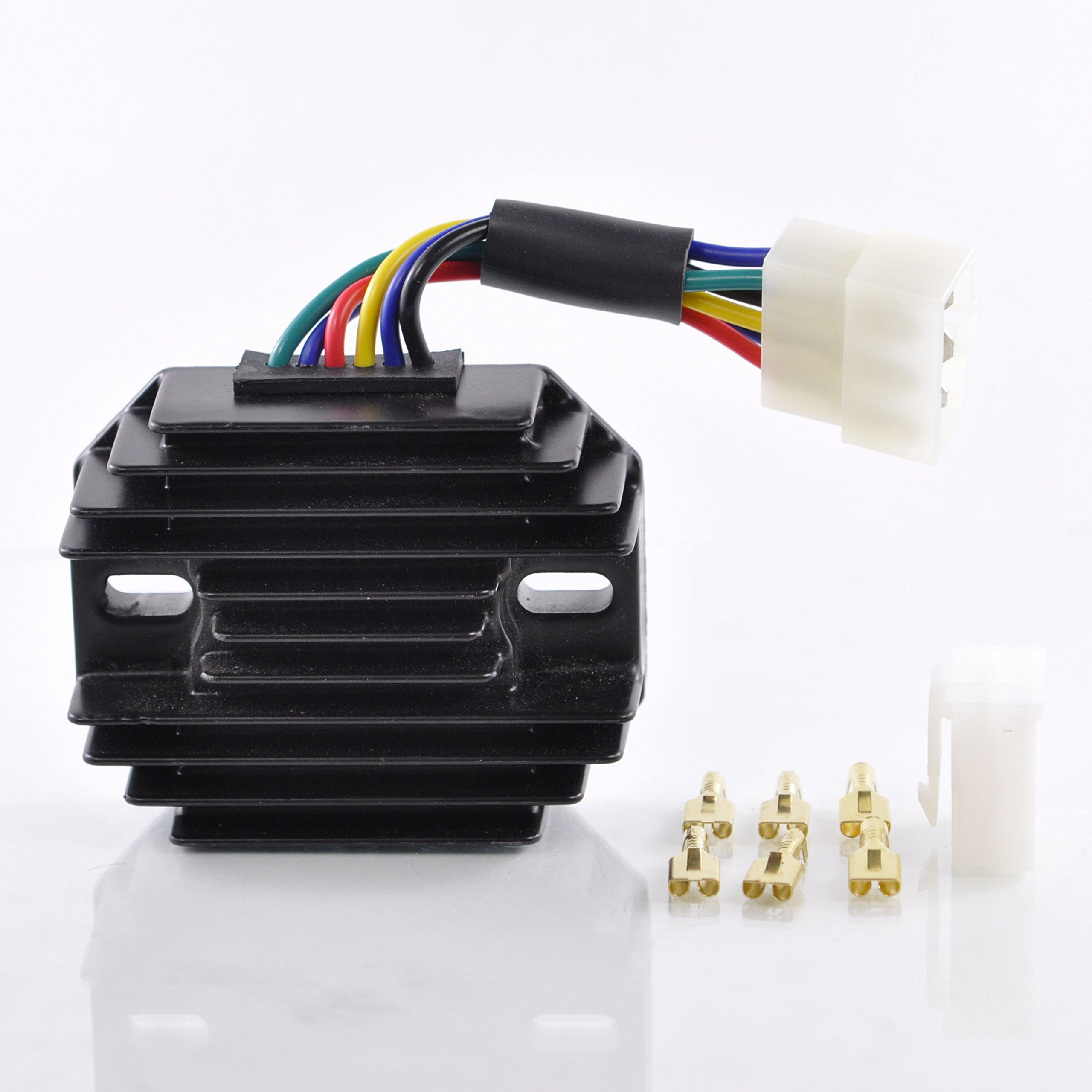 Voltage Regulator For Kubota UTV RTV500 2008-2017/John Deere Tractor Models 2210 2305 2320 2520 4010 4100 4110 4115 OEM Repl.# 185530 15351-64600 M807915 RP201-53710 516255