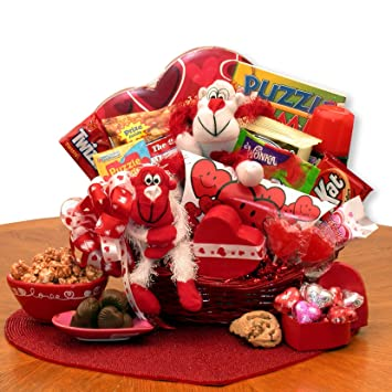 Amazon Com A Little Monkey Business Kids Valentines Gift Basket Baby