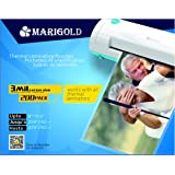 """Marigold 205-Count Pack 3 mil Letter Size, 9""""x11.5"""", Thermal Laminating Pouches Laminator Film Sheets for Laminator Machine (TLP3LTR)"""