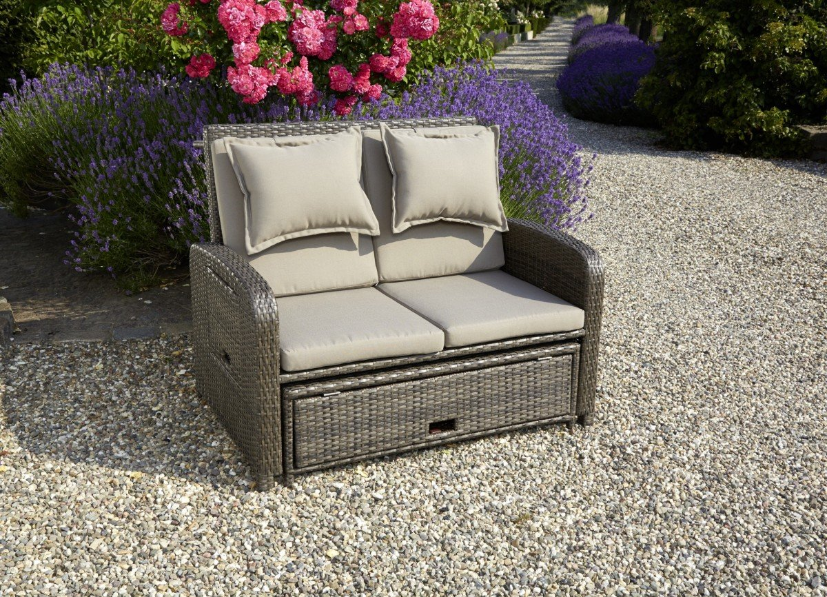 Dreams4home Lounge Sofa Bajula Lounge Sofa Rattan Polster