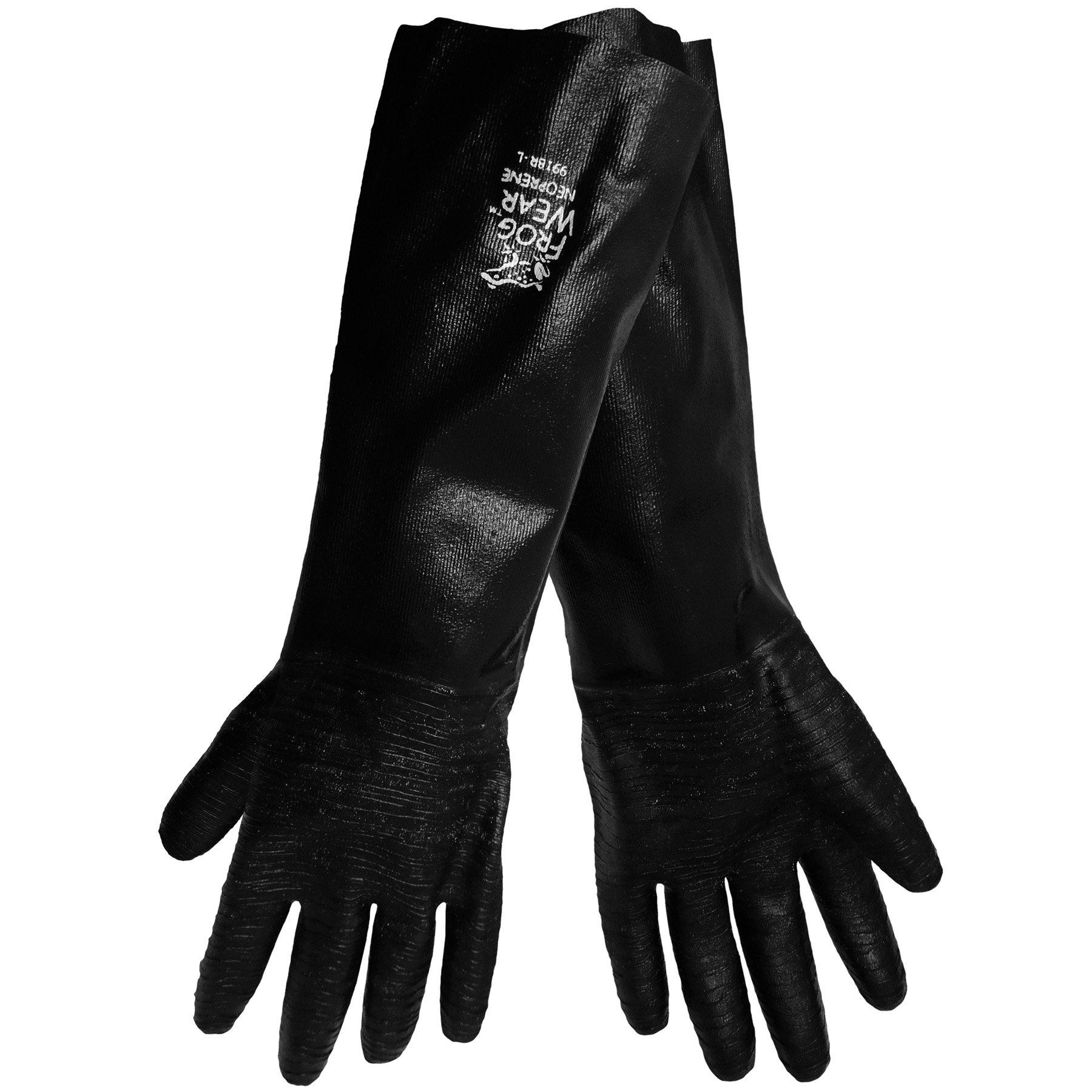 Global Glove 9918R FrogWear Heavywall Support Neoprene Glove, Chemical Resistent, 18'' Length, Large, Rough (Case of 72)