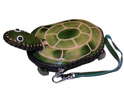 Amazon.com: Pequeño tortuga de piel cartera monedero: Arte ...