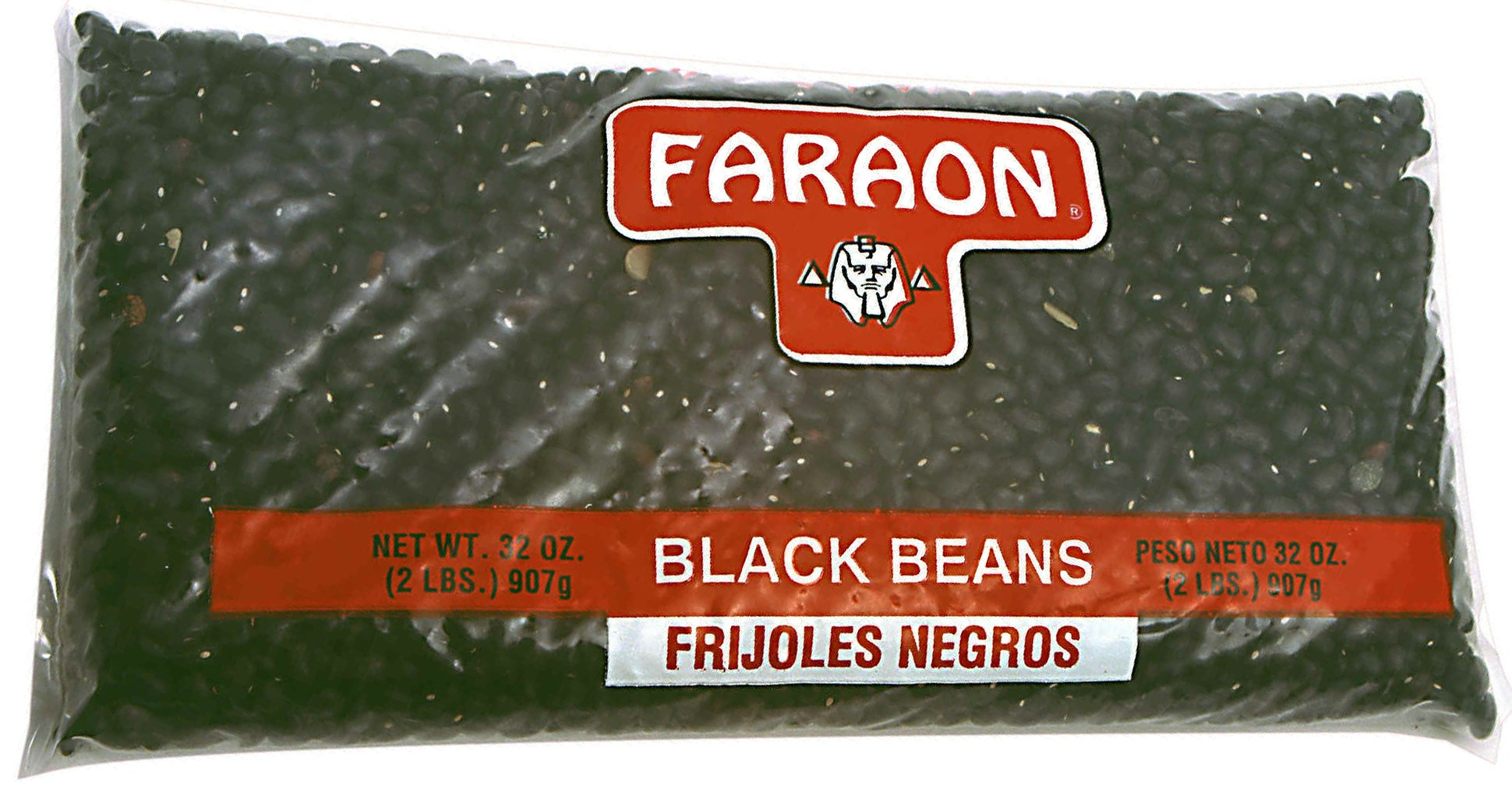FARAON Black Beans, 2 Pound (Pack of 12)