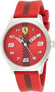 Ferrari Unisex-Adult Quartz Watch, Analog Display and Silicone Strap 860001