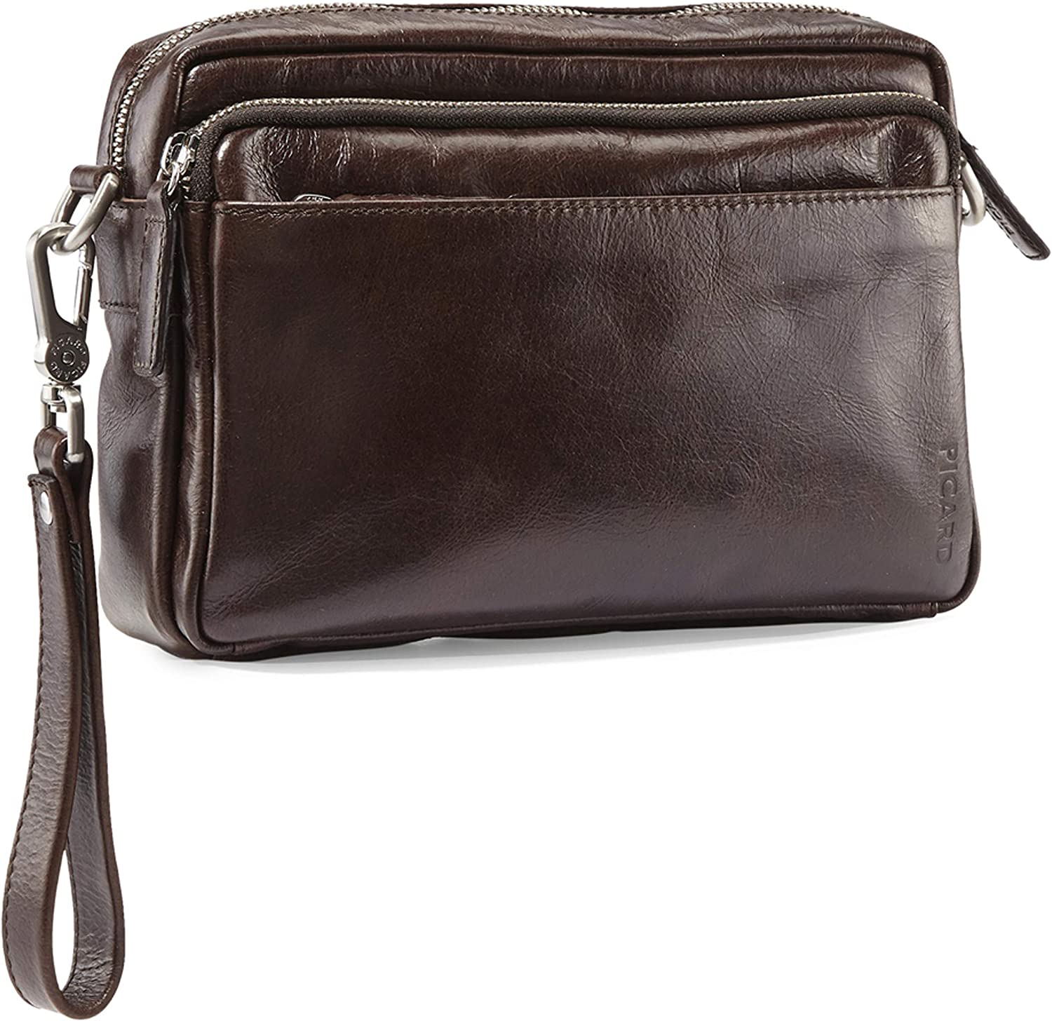 Picard Buddy Clutch and Crossbody Cognac Café