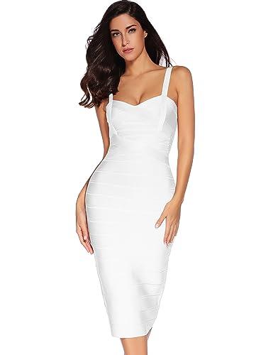 Women's Sleeveless Rayon Bandage Body on Strap Dress