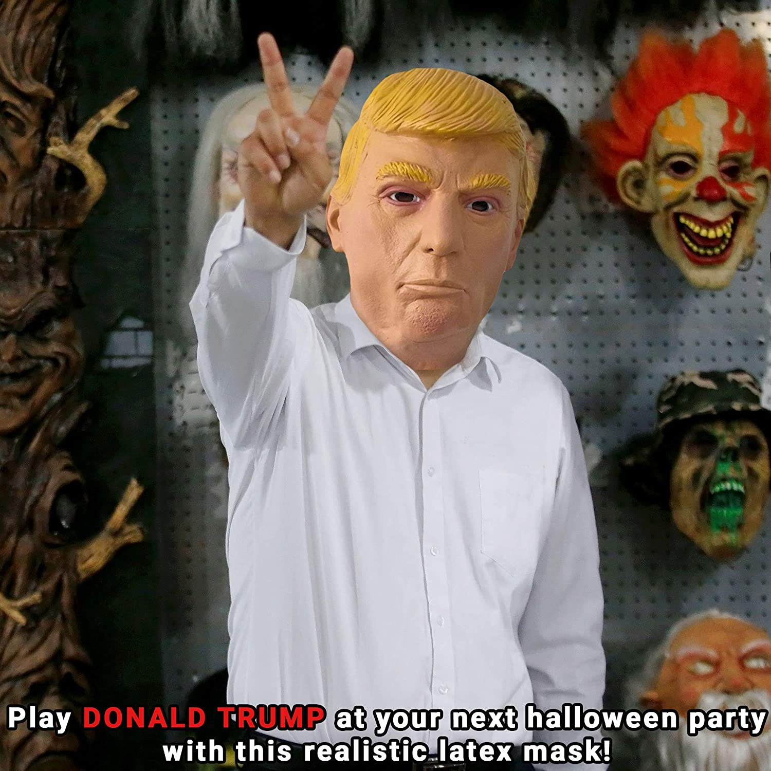 The Twiddlers Máscara de Donald Trump de Latex Fiestas de Disfraces de Halloween - Eventos - Carnavales - Disfraz: Amazon.es: Juguetes y juegos
